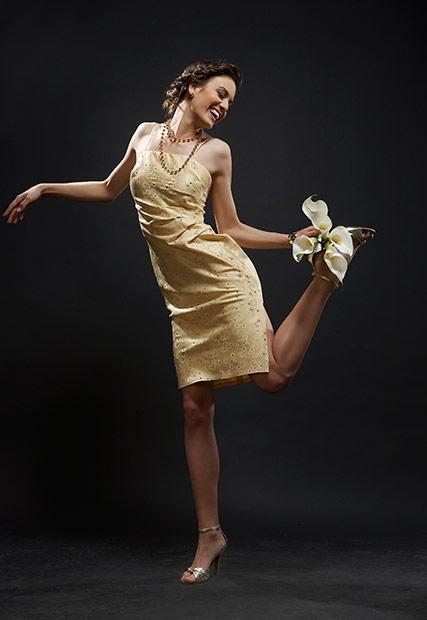 rochie de seara purtata de model talentat