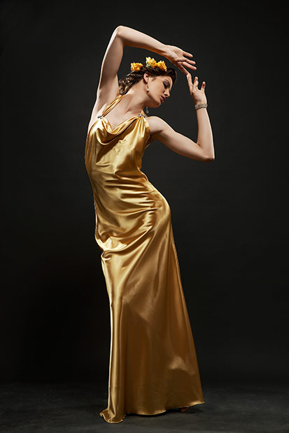 posing de mare efect pentru rochia de seara