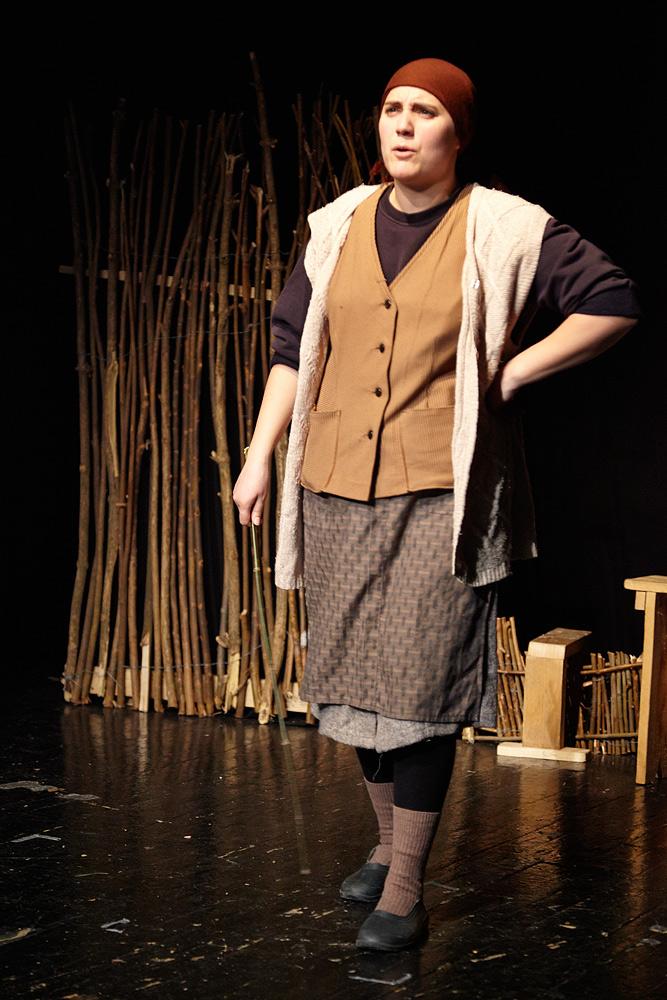 Mirela Sorescu in piesa de teatru Niste Olteni