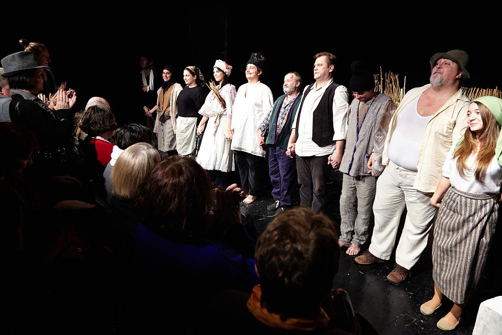 Distributia din piesa de teatru Niste Olteni saluta publicul