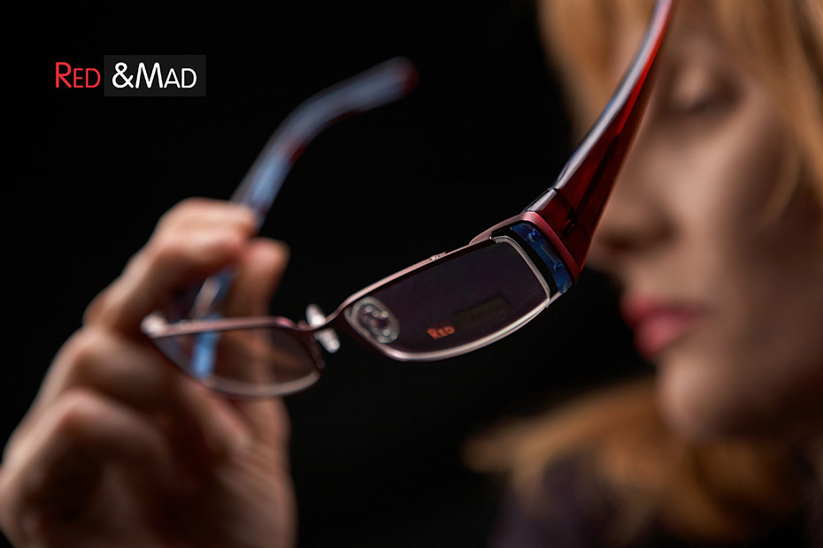 ochelari de vedere in reclama de produs