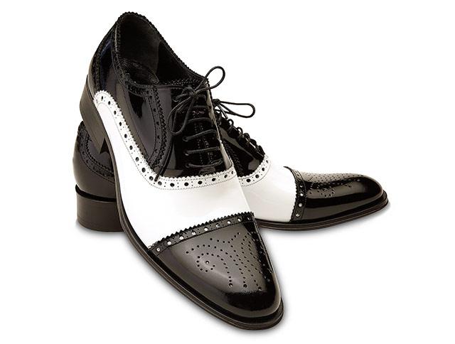 pantofi barbatesti alb negru
