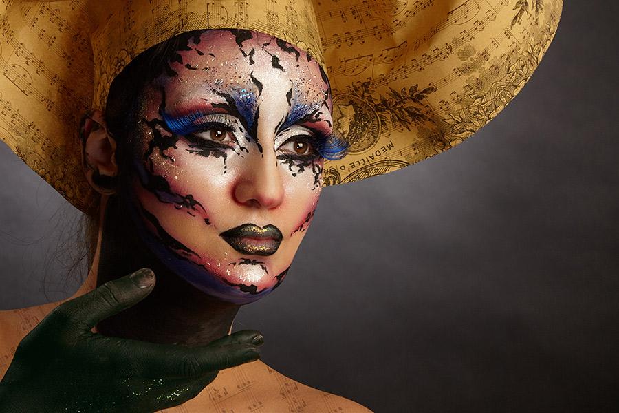 detaliu fotomodel face painting