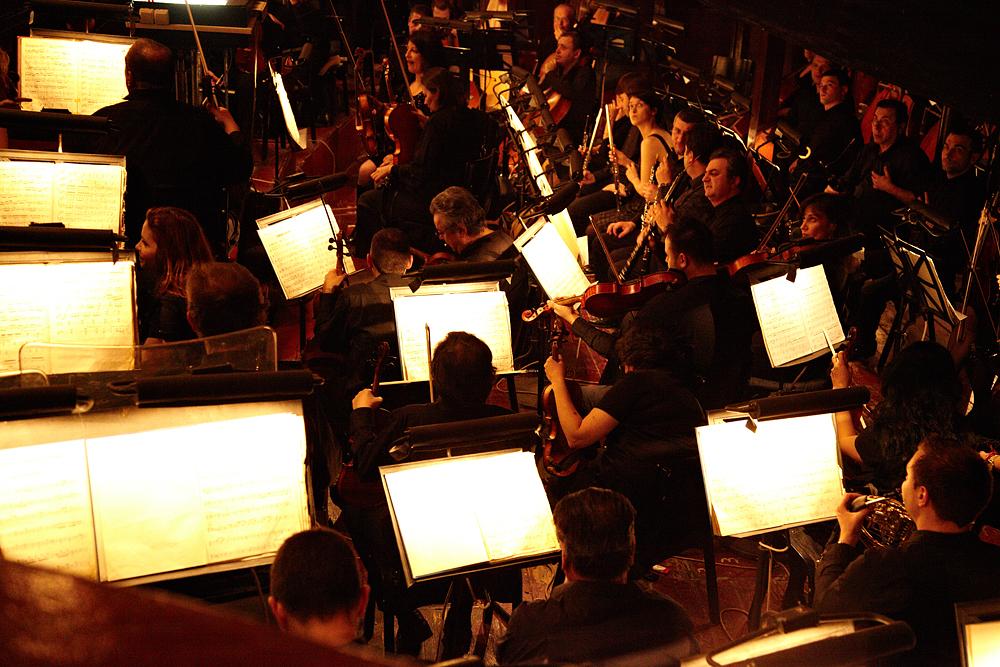 muzicienii in fosa Operei Romane