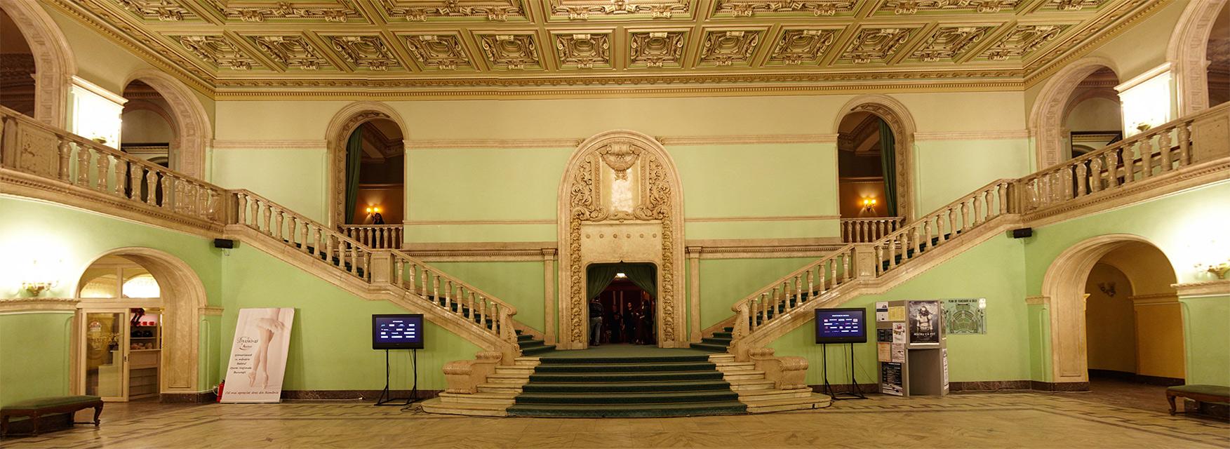 panorama de interior a Operei Romane