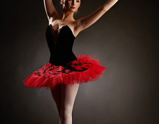 Balerina in studio