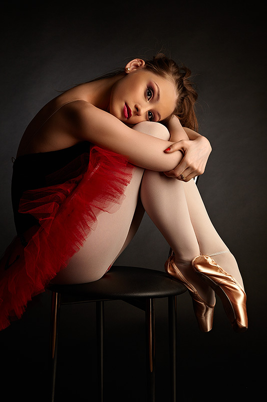 balerina relaxandu-si picioarele
