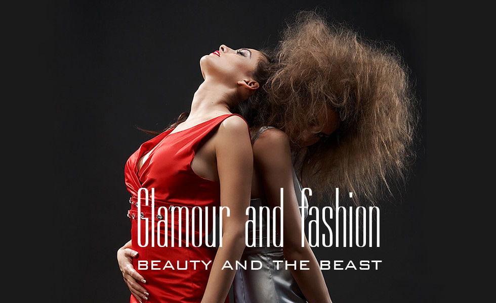 Fotograf studio concept glamour and fashion beauty and the beast